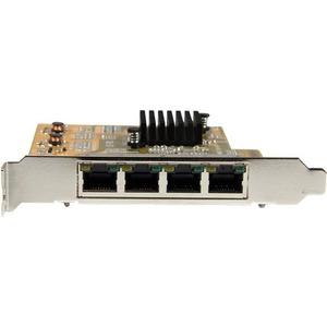 StarTech.com 4-Port PCI Express Gigabit Network Adapter Card - Quad-Port PCIe Gigabit NIC - PCI Express x4 - 250 MB/s Data