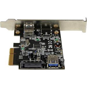 StarTech.com 2 Port USB 3.1 (10Gbps) Card - USB-A 1x External 1x Internal - PCIe USB 3.1 Card with Type-A - PCI Express -