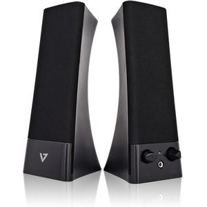 V7 SP2500-USB-6N Speaker System - 5 W RMS - Black - 100 Hz to 20 kHz - USB