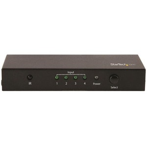 StarTech.com HDMI 2.0 Switch - 4 Port - 4K 60Hz - HDMI Automatic Video Switch Box - Multi Port Hub w/ 1 In 4 Out Functiona