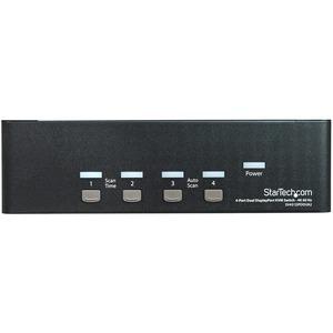 StarTech.com DisplayPort KVM - 4 port - 4K 60Hz - Dual Monitor KVM - DisplayPort Switch - KVM DisplayPort - Desktop KVM Sw