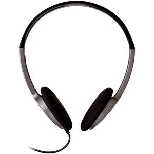 Cuffie stereo leggere V7, archetto ergonomico e regolabile, per iPad, iPod, tablet, laptop, Chromebook, PC, nero - Supra-a