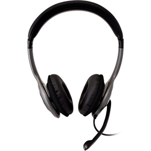 Cuffie USB V7 Deluxe con microfono con cancellazione del rumore, regolatore volume, cuffie digitali, laptop, Chromebook, P