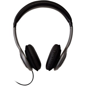 V7 HA520-2EP Wired Over-the-head Stereo Headphone - Black, Grey - Circumaural - 32 Ohm - 20 Hz to 20 kHz - 1.80 m Cable -