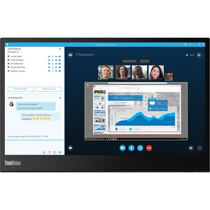 THINKVISION M14 14-INCH MOBILE MONITOR IPS 1920X1080 (16:9) TILT 2XUSB-TYPE C INPUT USB TYPE C ONLY (POWER ADAPTER IS NOT