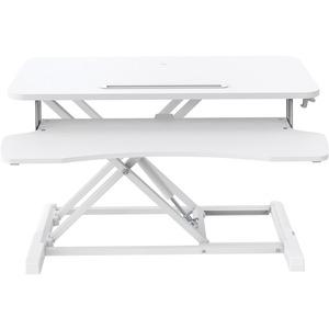 V7 DT2SSW Multipurpose Desktop Riser - 50 cm Height x 61.5 cm Width - Desktop - White