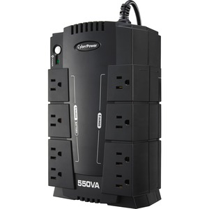 CyberPower Standby CP550SLG 550 VA Desktop UPS - Compact - 8 Hour Recharge - 2 Minute Stand-by - 120 V AC Input - 120 V AC