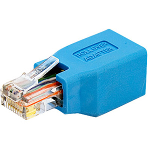 StarTech.com Adattatore cavo console Cisco per cavo Ethernet RJ45 M/F - 1 x RJ-45 Femmina Rete - 1 x RJ-45 Maschio Rete - Blu