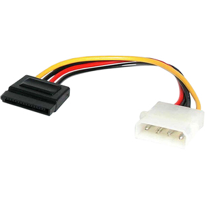 Cable Adaptador de 15cm de Alimentación MOLEX LP4 4 Pines a SATA 15 Pines StarTech.com SATAPOWADAP