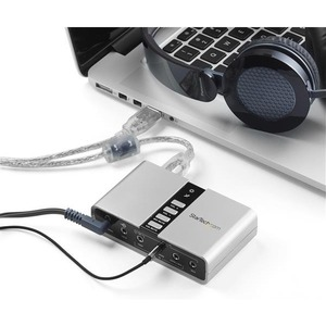 StarTech.com 7.1 USB Sound Card - External Sound Card for Laptop with SPDIF Digital Audio - Sound Card for PC - Silver (IC