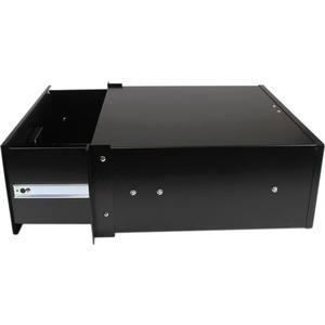 StarTech.com 4U Black Steel Storage Drawer for 19in Racks and Cabinets - 4U Black Sliding Rack Storage Drawer - 25 kg Maxi