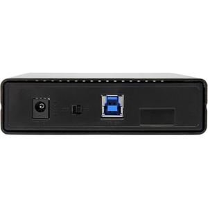 """StarTech.com Box esterno per disco rigido SATA III da 3,5"""" USB 3.0 nero con UASP per SATA 6 Gbps - HDD esterno portatile -"""