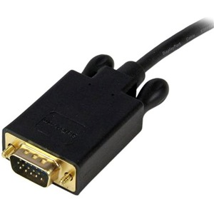 StarTech.com 10 ft DisplayPort™ to VGA Adapter Converter Cable - DP to VGA 1920x1200 - Black - First End: 1 x DisplayPort
