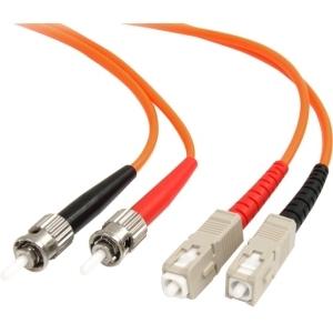 StarTech.com 2m Fiber Optic Cable - Multimode Duplex 62.5/125 - LSZH - ST/SC - OM1 - ST to SC Fiber Patch Cable - First En