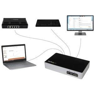 StarTech.com Replicador de Puertos DVI a USB 3.0 para Ordenadores Portátiles - 4 x puertos USB - 4 x USB 3.0 - Red (RJ-45)