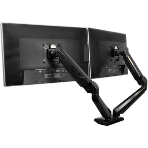 """StarTech.com Dual Monitor Arm - USB Hub and Audio Ports in Base - Monitors up to 30"""" - VESA Monitor Stand Desk Mount - 2 D"""