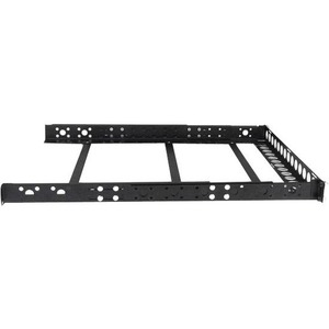 StarTech.com Mounting Rail for Server - Black - TAA Compliant - 25 kg Load Capacity