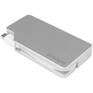 StarTech.com Aluminum Travel A/V Adapter: 3-in-1 Mini DisplayPort to VGA, DVI or HDMI - mDP Adapter - 4K - 1 x Mini Displa