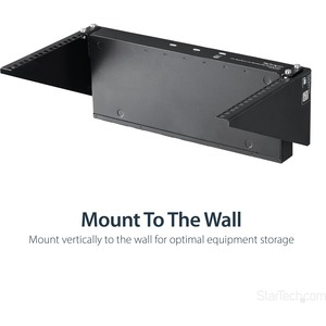 StarTech.com 6U 48cm Steel Vertical Rack and Wall Mountable Server Rack - 90.95 kg Load Capacity - 1