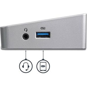 StarTech.com USB C Docking Station - Power Delivery (USB PD) - Windows / MacBook - Triple 4K - USB-C to DP x 2 - USB C to
