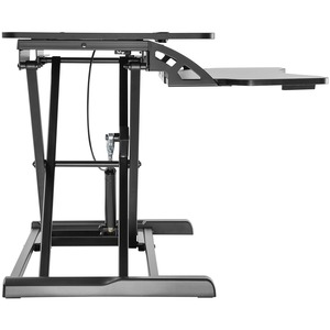 V7 DT2SSB-1E Multipurpose Desktop Riser - 15 kg Load Capacity - 50 cm Height x 61.5 cm Width - Desktop - Steel, Medium Den