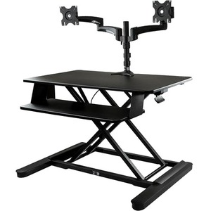 """StarTech.com Dual Monitor Sit Stand Desk Converter - 35"""" Wide - Height Adjustable Standing Desk Solution -Dual Arms for up"""