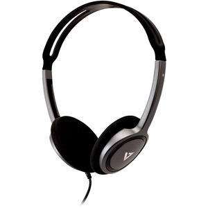 V7 HA310-2EP Wired Over-the-head Binaural Stereo Headphone - Black - Supra-aural - 32 Ohm - 1.80 m Cable - Mini-phone (3.5mm)