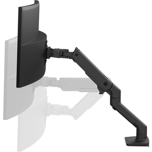 """Ergotron Desk Mount for Monitor, Curved Screen Display - Matte Black - 1 Display(s) Supported124.5 cm (49"""") Screen Support"""