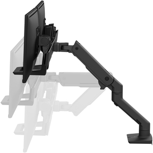 """Ergotron Desk Mount for LCD Monitor - Matte Black - 2 Display(s) Supported81.3 cm (32"""") Screen Support - 15.88 kg Load Cap"""