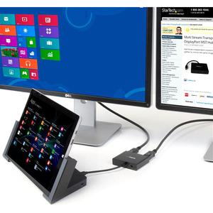 StarTech.com 3 Port DisplayPort MST Hub - 4K 30Hz - DisplayPort to DisplayPort Multi Monitor Splitter for 3 DP Monitor Set