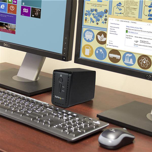 "StarTech.com 2-Bay 3.5"" HDD Enclosure with RAID - USB 3.1 - SATA (6Gbps) - Dual 3.5"" HDD/SSD/SSHD External Drive Enclosure"