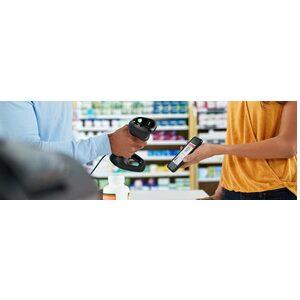Zebra DS9308-SR Retail, Quick Service Restaurant (QSR), Industrial Handheld Barcode Scanner Kit - Cable Connectivity - Bla