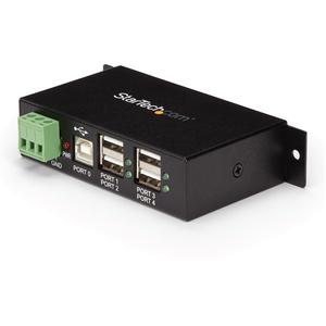 StarTech.com StarTech.com 4-Port USB 2.0 Hub - Add four rugged external USB 2.0 ports from a single USB connection - usb 2