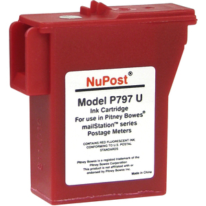 V7 Remanufactured Postage Meter Red Ink Cartridge for Pitney Bowes 797-0/797-Q/797-M - 400 page yield - Inkjet - 800 Pages