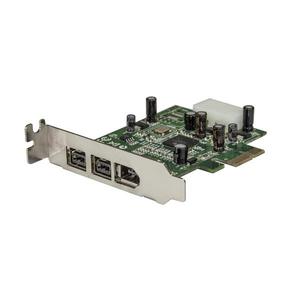 StarTech.com Adaptador Tarjeta FireWire PCI-Express Bajo Perfil de 2 Puertos F/W 800 y 1 Puerto F/W 400 - 3 Total puerto(s