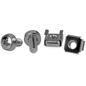 StarTech.com 50 Pkg M6 Mounting Screws and Cage Nuts - 100 / Pack