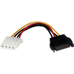 StarTech.com 15 cm SATA to LP4 Power Cable Adapter - F/M - For Hard Drive - Serial ATA / LP4 - Black