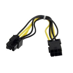 StarTech.com 20cm 6 pin PCI Express Power Extension Cable - For PCI Express Card - PCI-E / PCI-E - Black - 1 Pcs