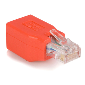 StarTech.com Gigabit Cat 6 Crossover Ethernet Adapter - 1 x RJ-45 Male Network - 1 x RJ-45 Female Network - Red