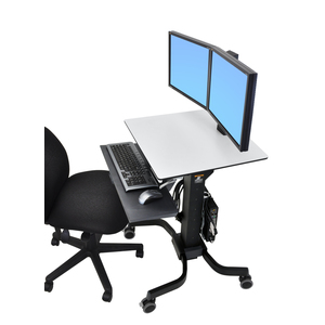 """Ergotron WorkFit-C 24-214-085 Computer Stand - Up to 55.9 cm (22"""") Screen Support - 12.70 kg Load Capacity - 60.7 cm Width"""