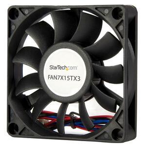 StarTech.com 70x15mm Replacement Ball Bearing Computer Case Fan w/ TX3 Connector - 3 pin case Fan - TX3 Fan - 70mm Fan - 7