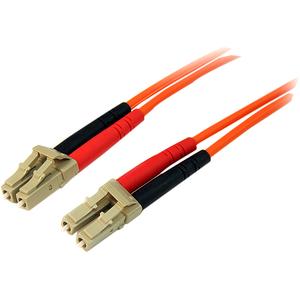 StarTech.com 1m Fiber Optic Cable - Multimode Duplex 50/125 - LSZH - LC/LC - OM2 - LC to LC Fiber Patch Cable - 1m - 2 x L