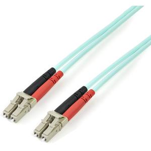 StarTech.com Cable de Fibra Óptica LC a LC de 2m Dúplex Multimodo 50/125 LSZH de 10Gb - Aqua - Extremo prinicpal: 2 x LC M