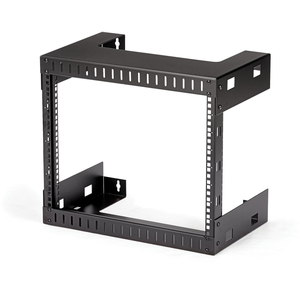 "StarTech.com 8U 19"" Rack di rete per montaggio a parete a 2 staffe - Rack a muro profondo 12"" a telaio aperto per dati/AV/"