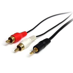 StarTech.com Cavo audio stereo 91 cm - 3,5 mm maschio a 2 maschi RCA - Estremità 1: 1 x Mini-phone Maschio Audio stereo -