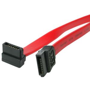 StarTech.com 36in SATA to Right Angle SATA Serial ATA Cable - 1 x Female SATA - 1 x Female SATA - Red