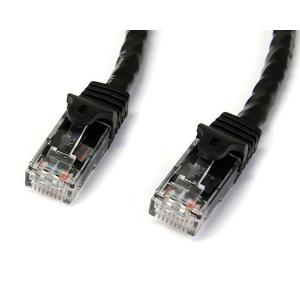 StarTech.com 10m Black Gigabit Snagless RJ45 UTP Cat6 Patch Cable - 10 m Patch Cord - 1 x RJ-45 Male Network - 1 x RJ-45 M
