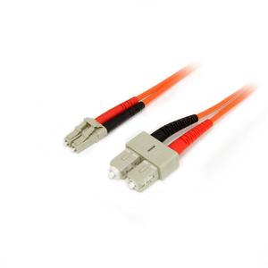 StarTech.com Cable Adaptador de Red de 3m Multimodo Dúplex Fibra Óptica LC-SC 50/125 - Patch Duplex - Extremo prinicpal: 2