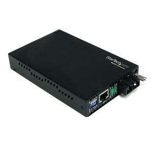 StarTech.com Conversor de Medios Gigabit Ethernet a Fibra Modo Único Monomodo Conector SC - 40km - 2 Puerto(s) - 1 x Red (