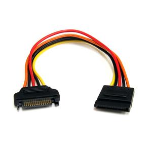 StarTech.com 20cm 15 pin SATA Power Extension Cable - 8 SATA power Extension Cable - 8 SATA power Extension cord - For Dis